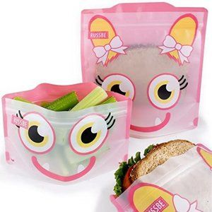 Russbe Monster Reusable Snack/Sandwich Bags 4